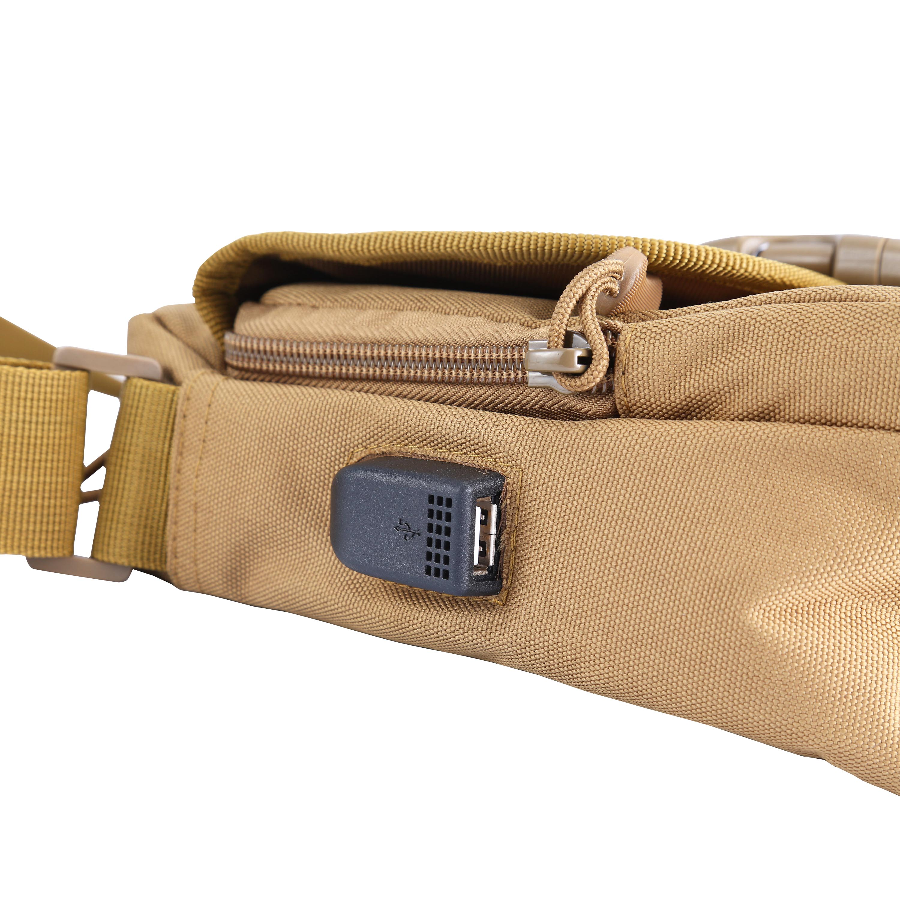 Mens Military Tactical Shoulder Bag Crossbody Messenger Sling Pack Molle Pouch