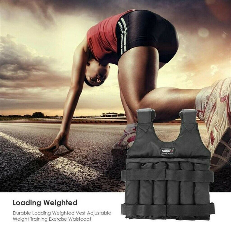 Details about  /Adjustable Weight Vest 44LB 110LB Weighted Workout Exercise Training Empty Vests