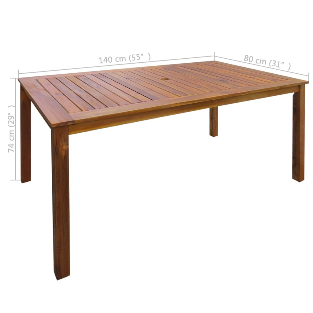 4//6 Seater Wooden Furniture Set Outdoor Patio Dining Set Folding Table /& Chair