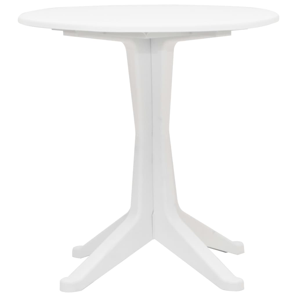 Garden Bar Table 70 cm Plastic Anthracite Round-shaped Coffee Tea Patio Table