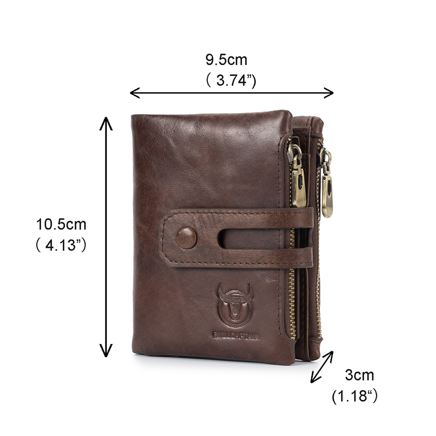 BULL CAPTAIN Cow Leather RFID Men Wallet Coin Pocket Multifunction Men Purse New