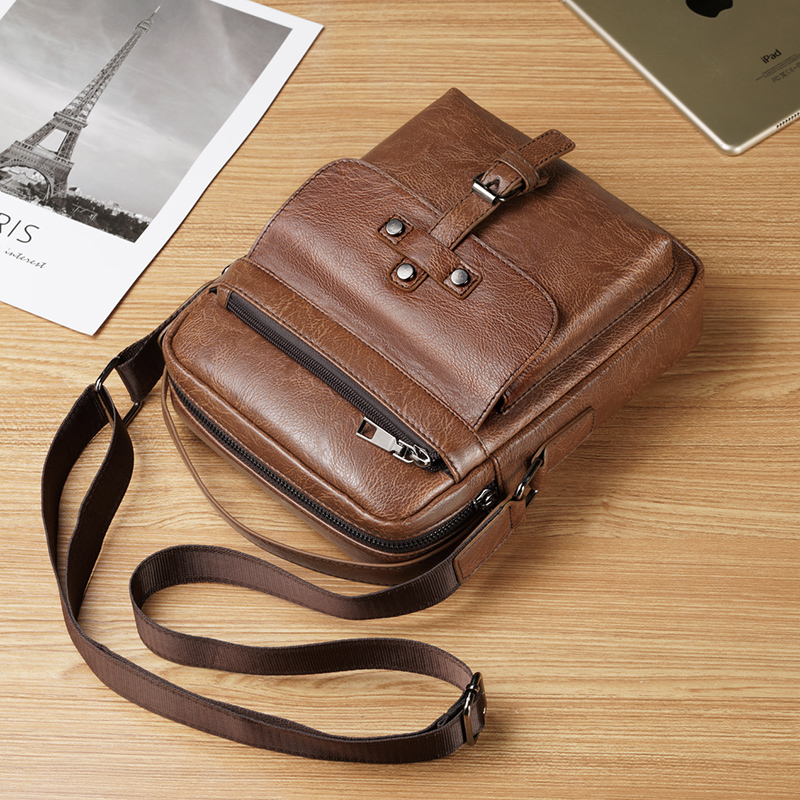 Men/'s PU Leather Shoulder Bag Briefcase Business Handbag Crossbody Tote Bags New