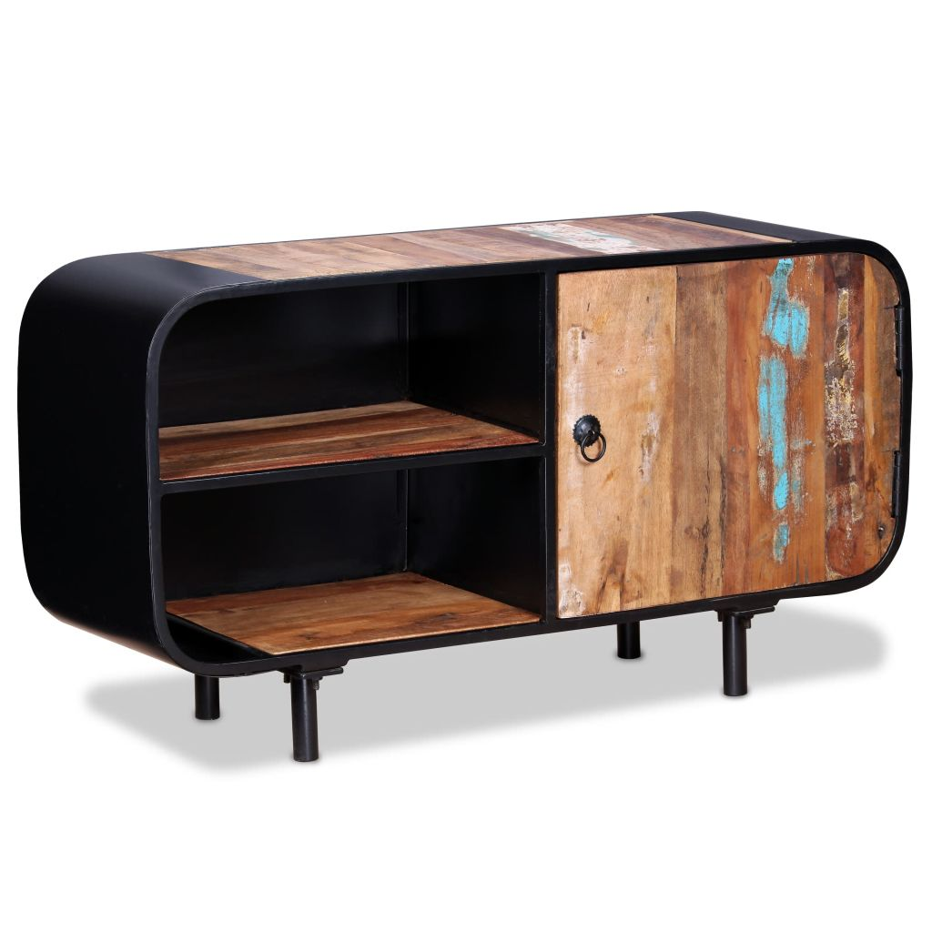 Industrial TV Stand Cabinet Unit Table Storage Shelves Sideboard Reclaimed Wood
