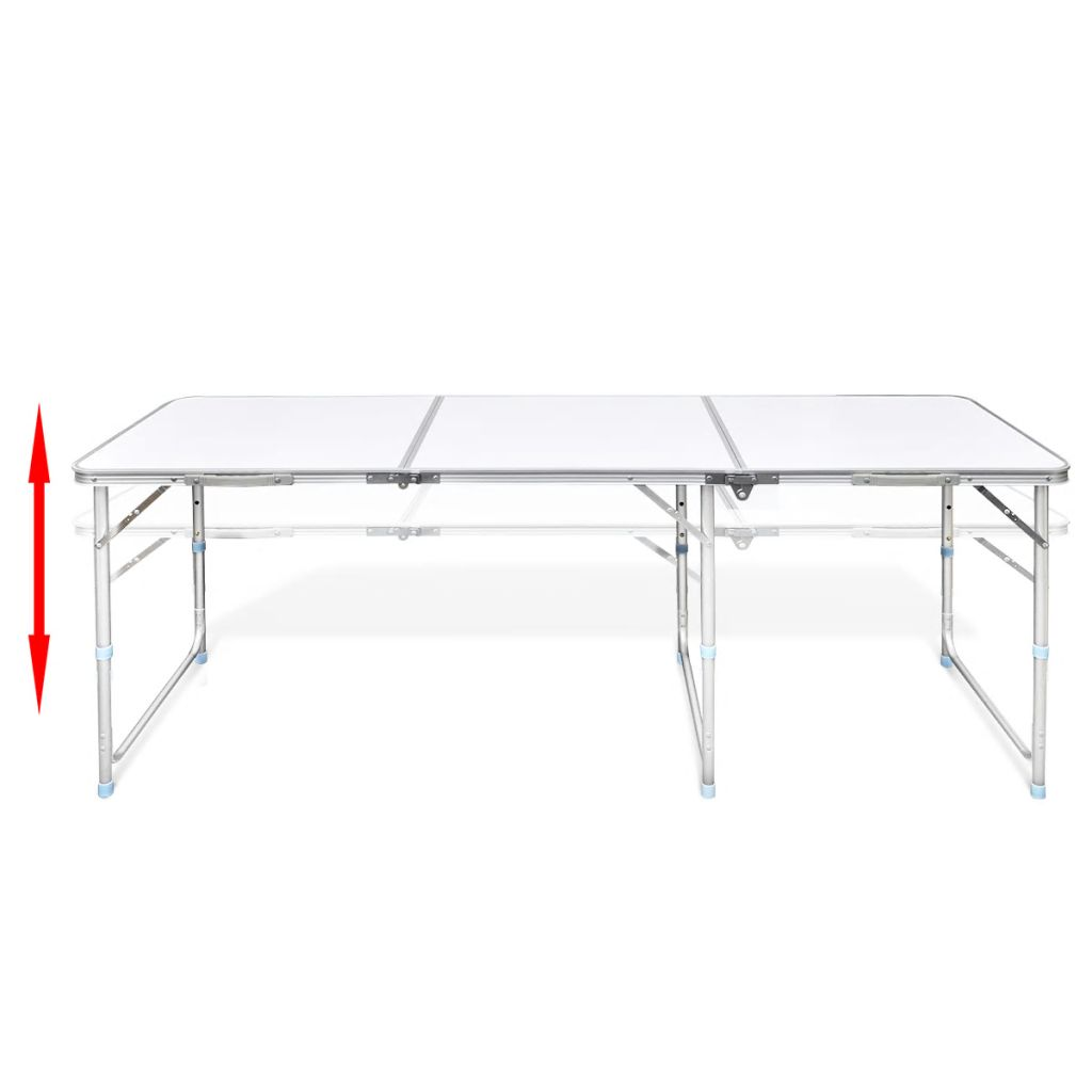 Folding Camping Picnic Table Party Outdoor Garden Chair Stools Set White Premium