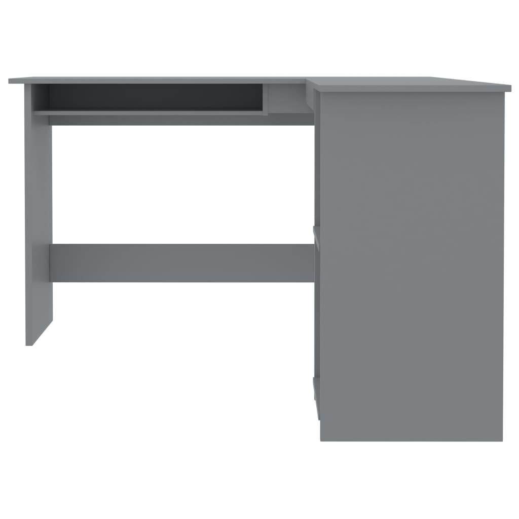 L-Shaped Corner Desk Office Computer Desk Table with a pull-out keyboard tray