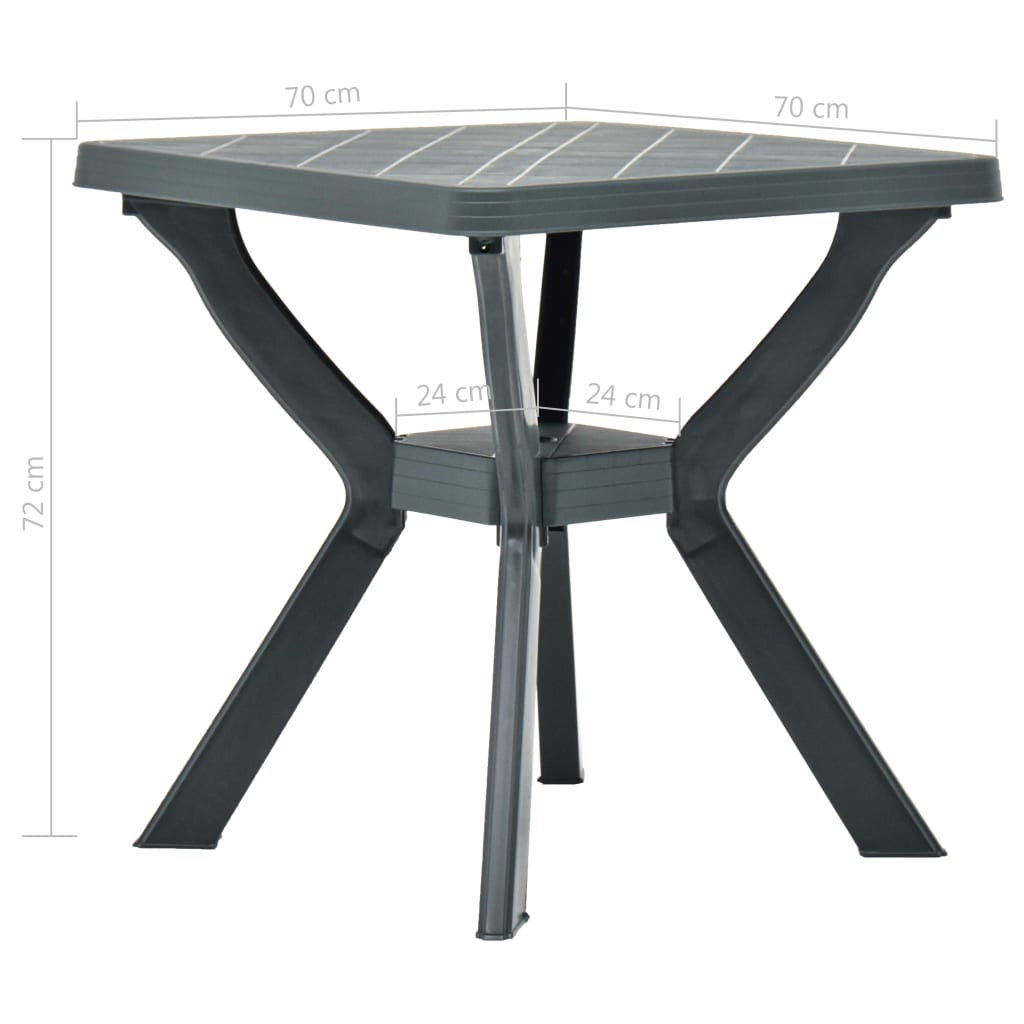 2-Tier Square Garden Table Plastic Dining Table Bistro Table Outdoor Camping
