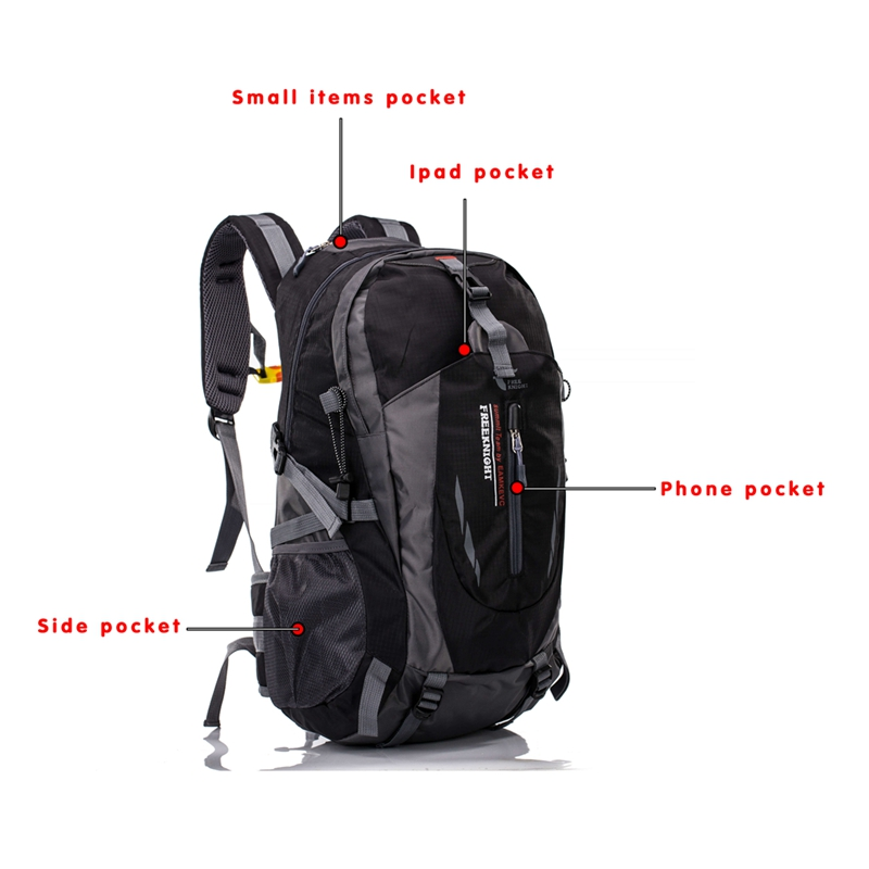 40L-Hiking-Backpack-Waterproof-Outdoor-Travel-Camping-Large-Shoulder-Bag thumbnail 13