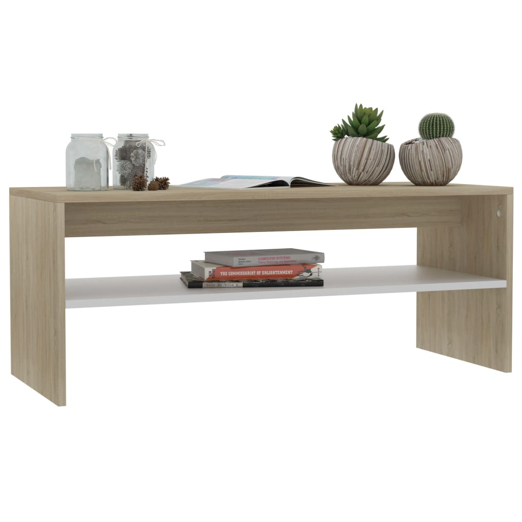 Modern-Coffee-Table-With-Storage-Shelf-Living-Room-Furniture-Chipboard-9-Colour thumbnail 62