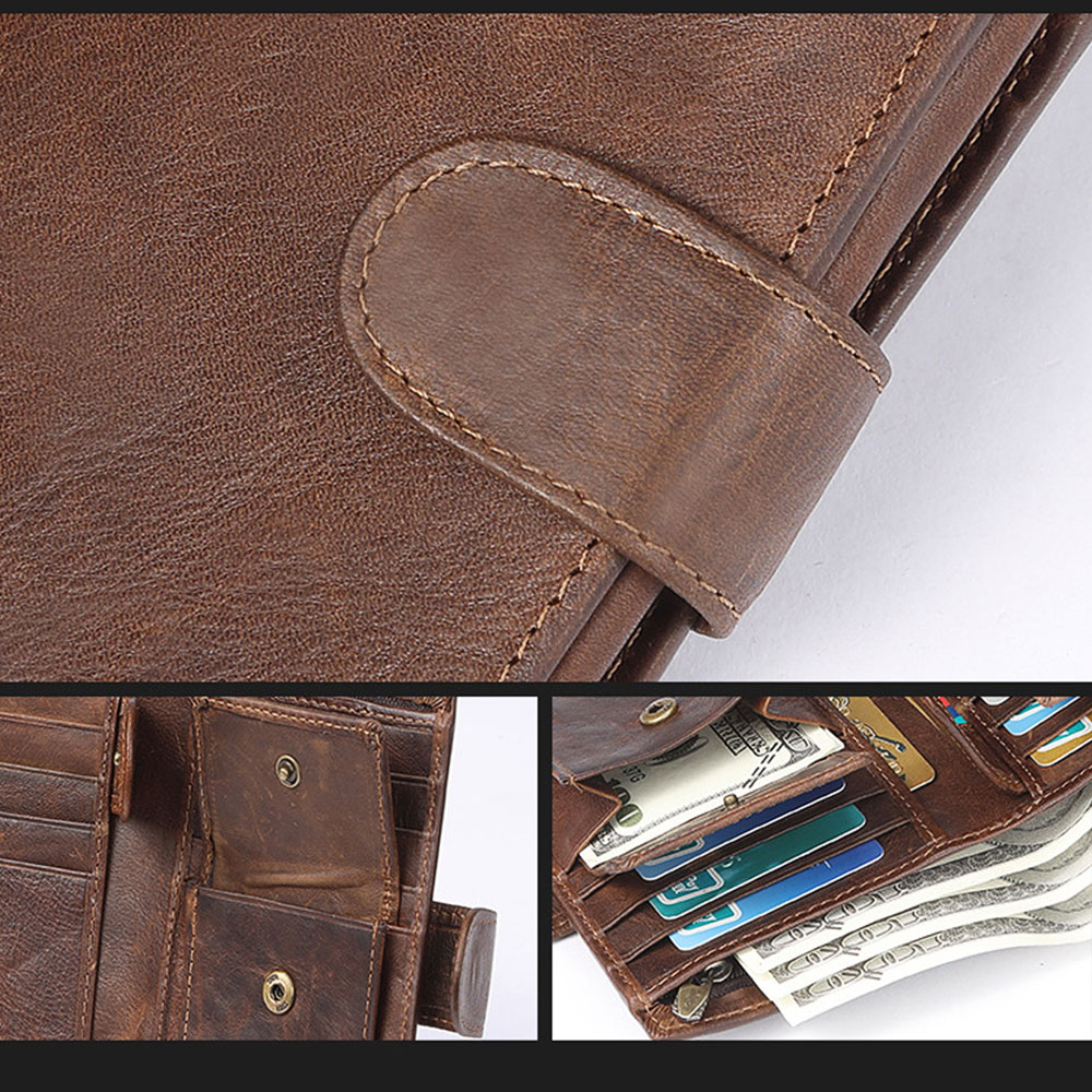 Men-039-s-Genuine-Leather-Trifold-RFID-Wallet-Money-Clip-Card-Holder-Coin-Purse-Case thumbnail 21