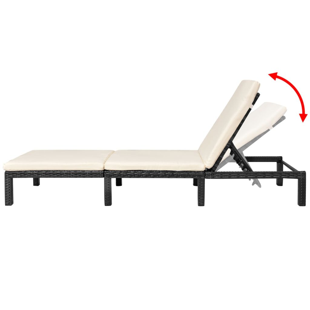 Outdoor-Garden-Chaise-Lounge-Chair-Sun-Bed-Pool-Patio-Day-Bed-Sofa-Poly-Rattan thumbnail 91