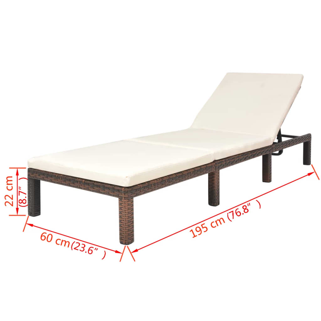 Outdoor-Garden-Chaise-Lounge-Chair-Sun-Bed-Pool-Patio-Day-Bed-Sofa-Poly-Rattan thumbnail 77