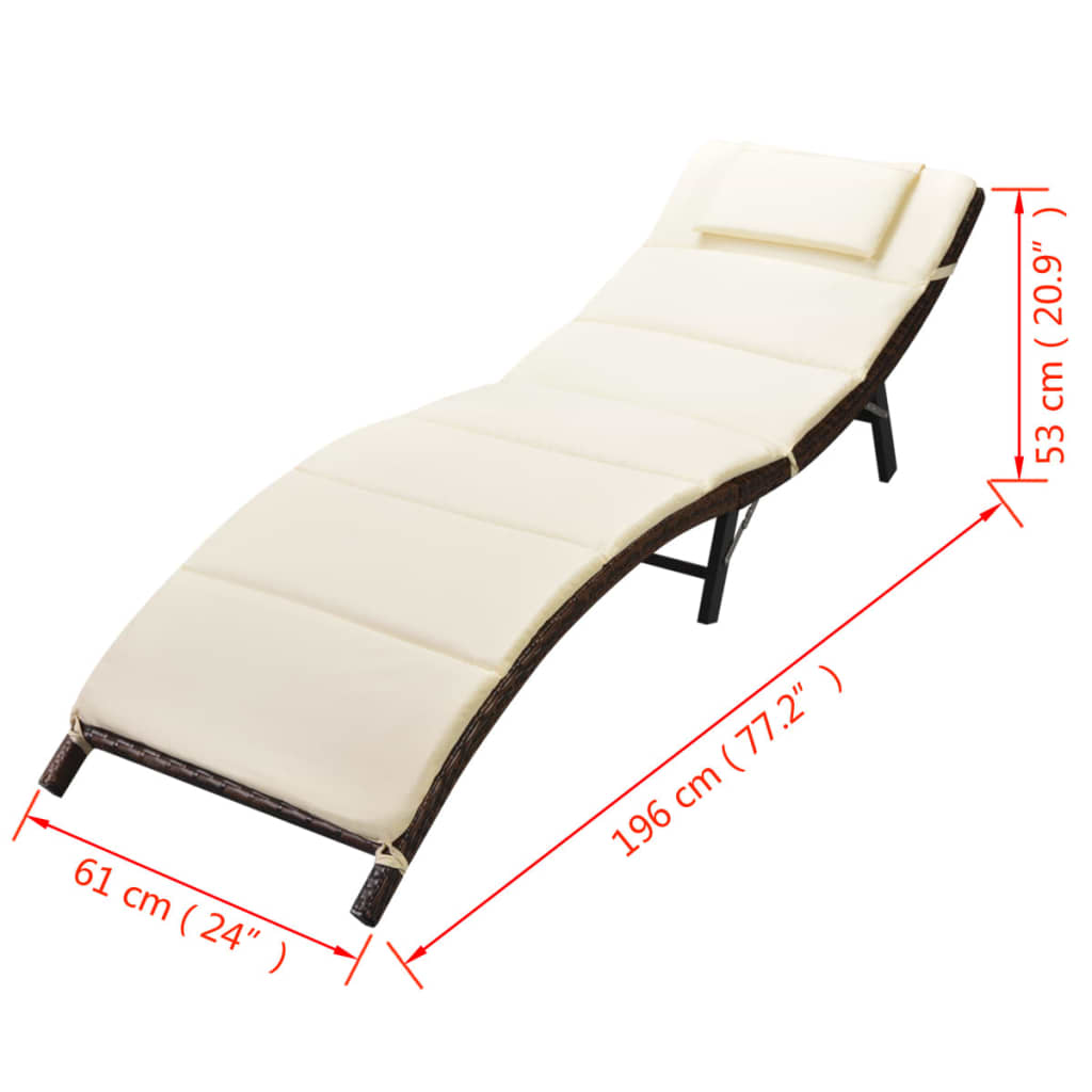 Outdoor-Garden-Chaise-Lounge-Chair-Sun-Bed-Pool-Patio-Day-Bed-Sofa-Poly-Rattan thumbnail 30