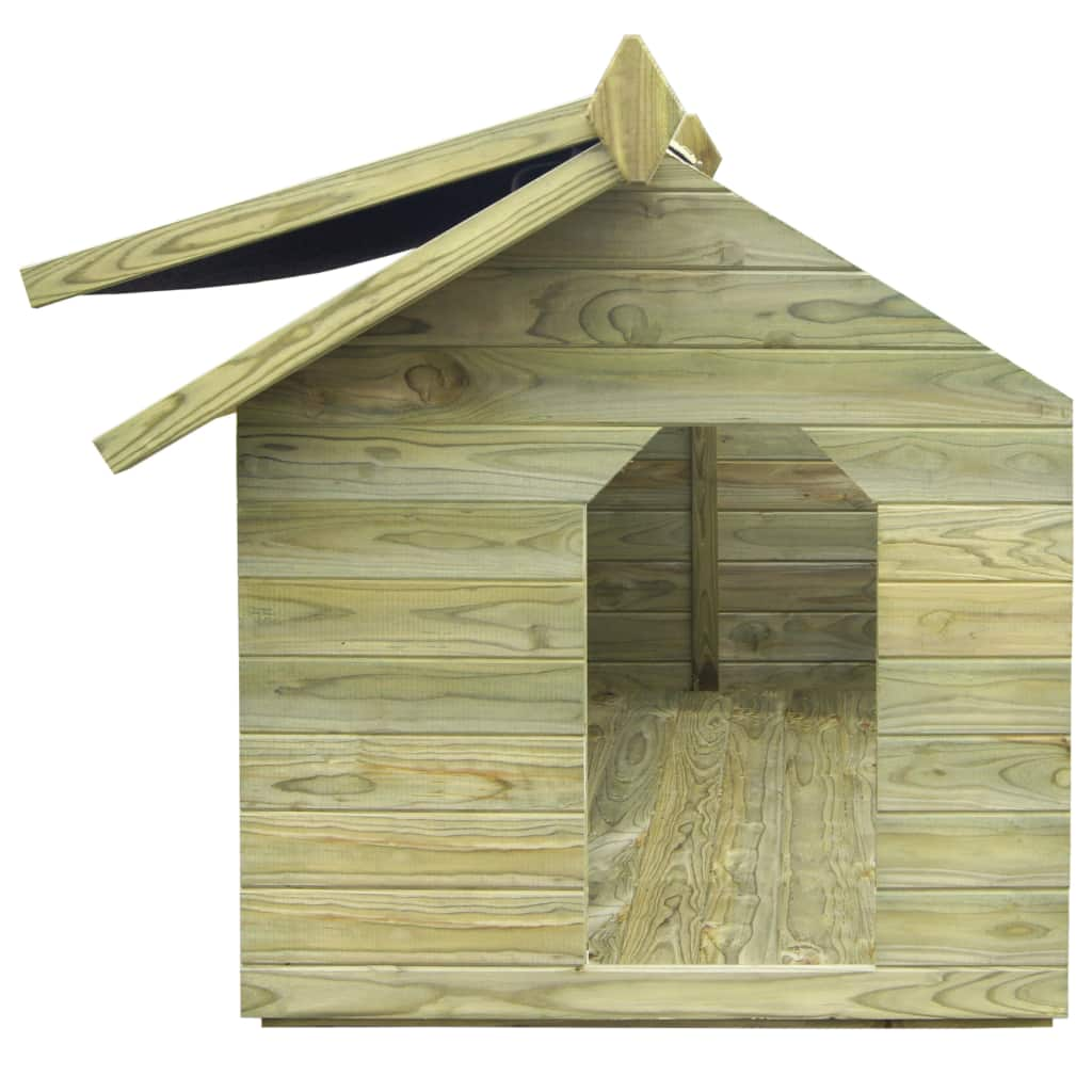 Garden-Wooden-Dog-Kennel-Pet-House-Home-Cage-Outdoor-Animal-Shelter-Opening-Roof thumbnail 18