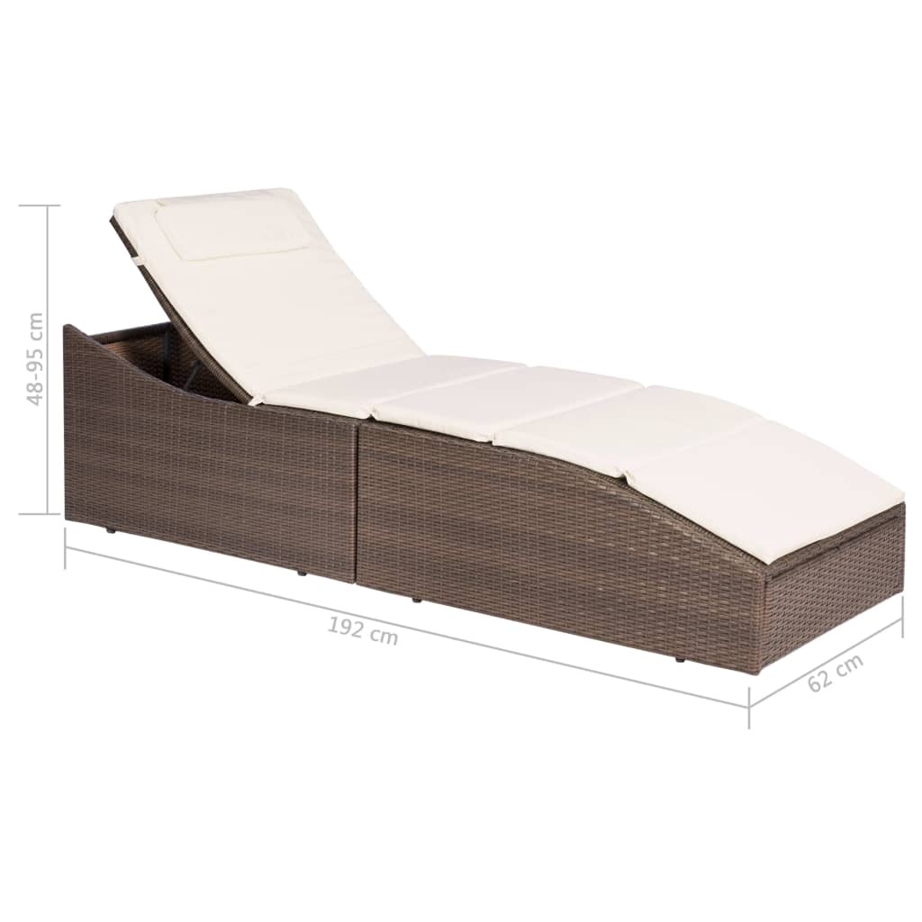 Outdoor-Garden-Chaise-Lounge-Chair-Sun-Bed-Pool-Patio-Day-Bed-Sofa-Poly-Rattan thumbnail 58