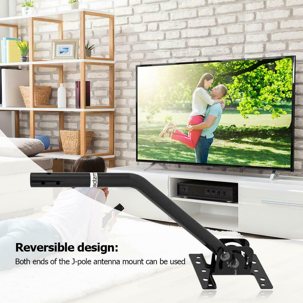 Attic Adjustable Weather Proof Outdoor TV Aerial Mounting Pole Universal Mount Brackets Solid Structure Easy Installation 1byone Antenna Mount