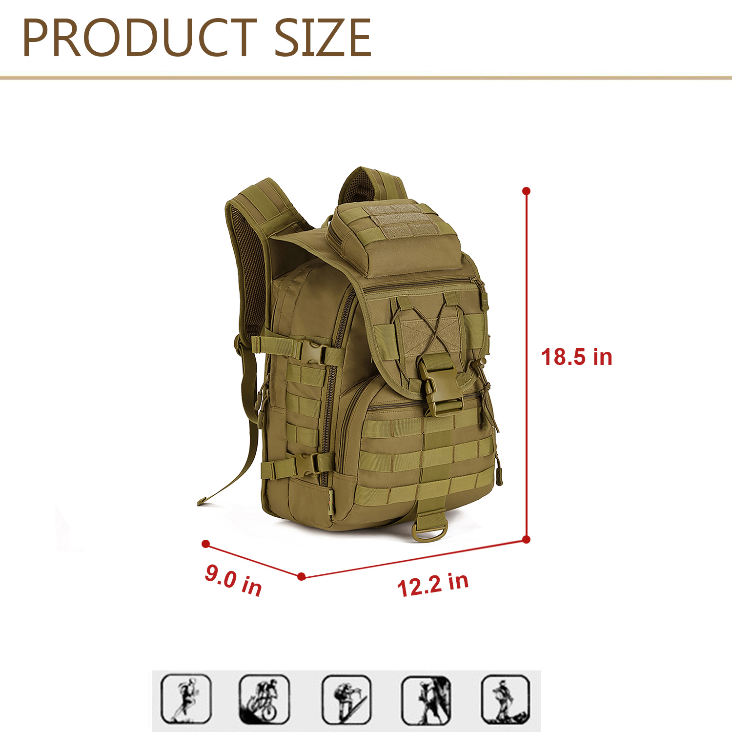 40L-Military-Tactical-Backpack-Assault-Pack-MOLLE-Bug-Out-Bag-Army-Backpack-Trek thumbnail 22