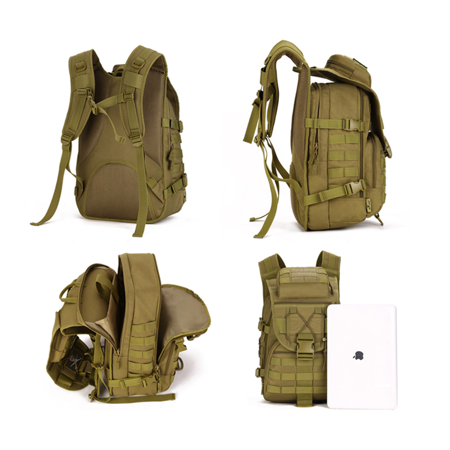40L-Military-Tactical-Backpack-Assault-Pack-MOLLE-Bug-Out-Bag-Army-Backpack-Trek thumbnail 19