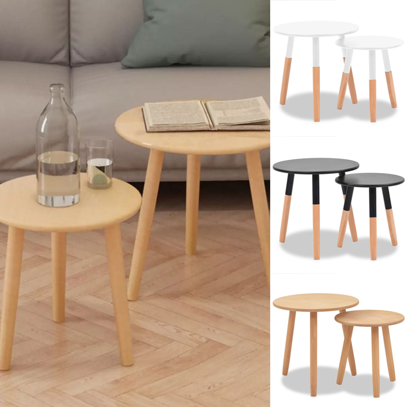 Surprising Details About Pack Of 2 Side Table End Display Round Small Coffee Table Office Bedroom Wooden Short Links Chair Design For Home Short Linksinfo