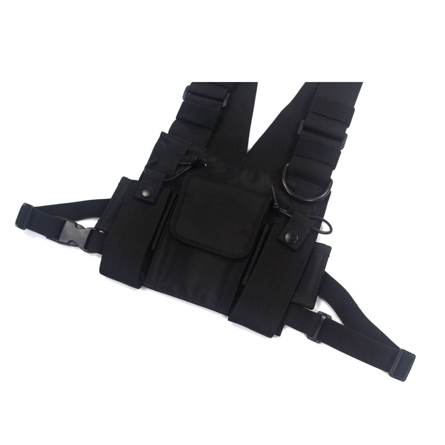 Universal Radio Chest Rig Harness Bag Unisex Oxford Talkie
