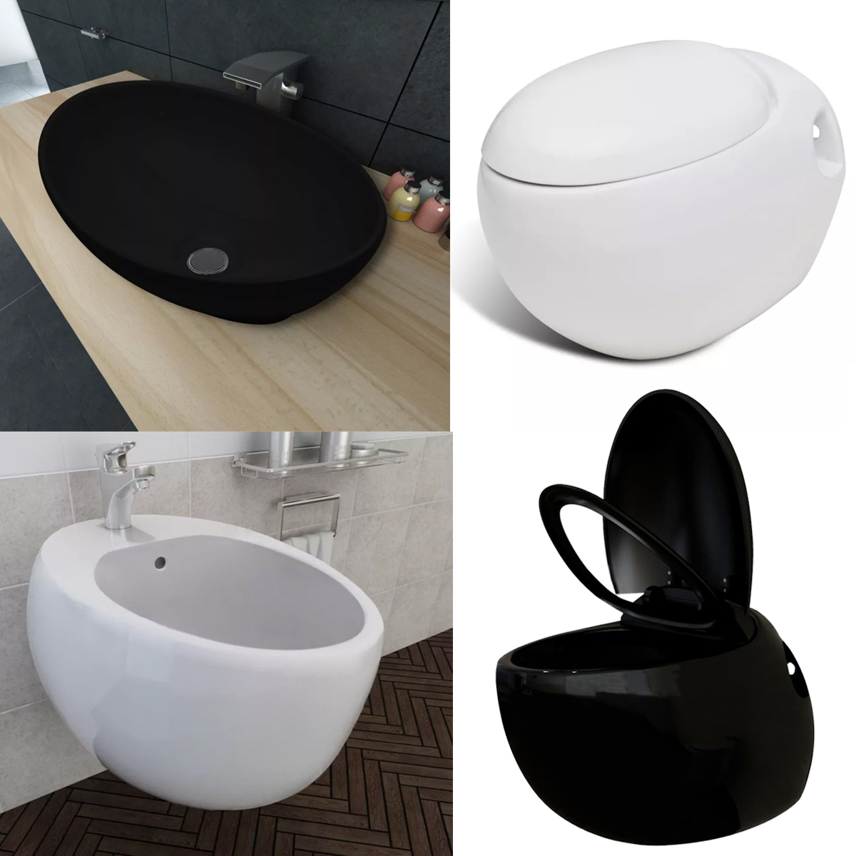 Tremendous Details About Unique Egg Design Wall Hung Toilet Bidet Luxury Ceramic Basin Oval Shaped Sink Bralicious Painted Fabric Chair Ideas Braliciousco