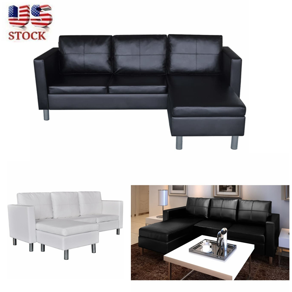 Tremendous Details About Modern Large Sectional Sofa 3Seater L Shape Couch Chaise Lounge Black White Onthecornerstone Fun Painted Chair Ideas Images Onthecornerstoneorg