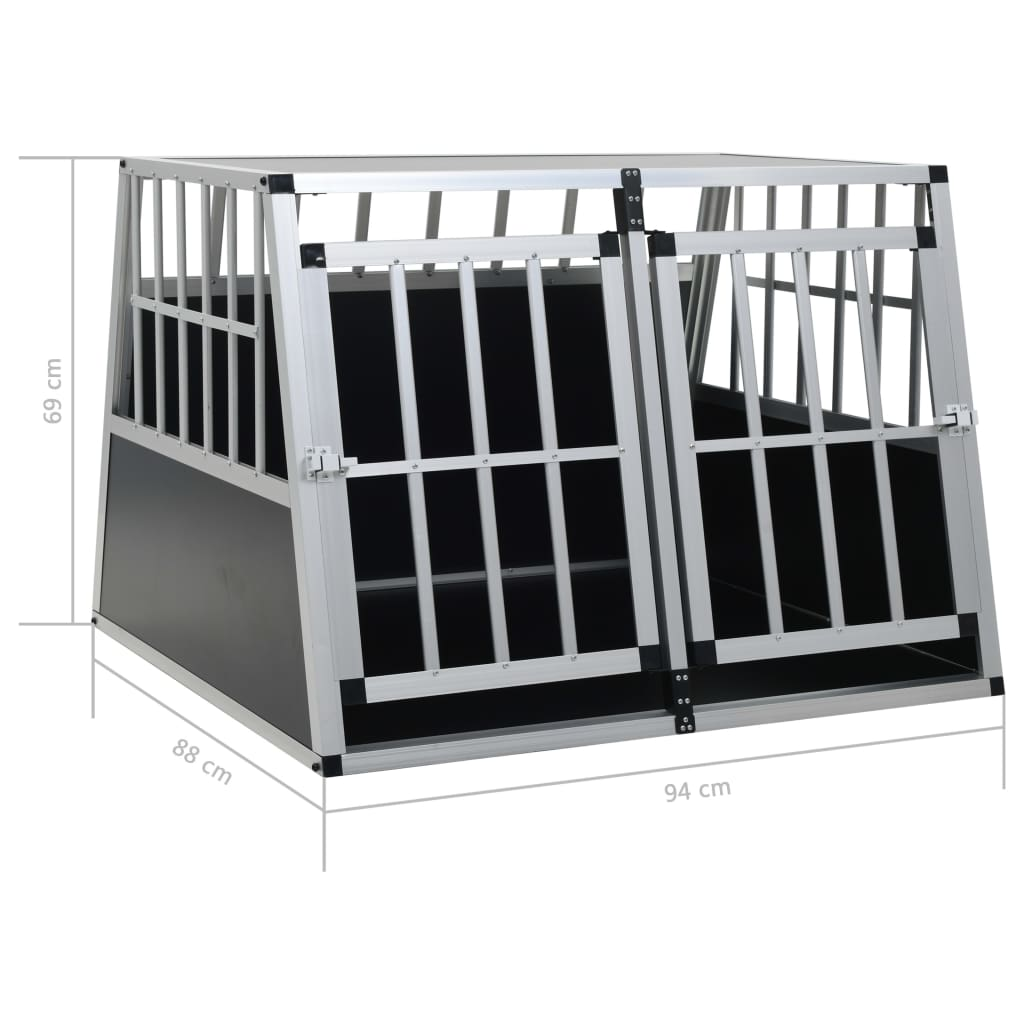 vidaXL-Dog-Cage-Dog-Kennels-Dog-Crates-with-Single-Double-Door-Multi-Sizes thumbnail 55