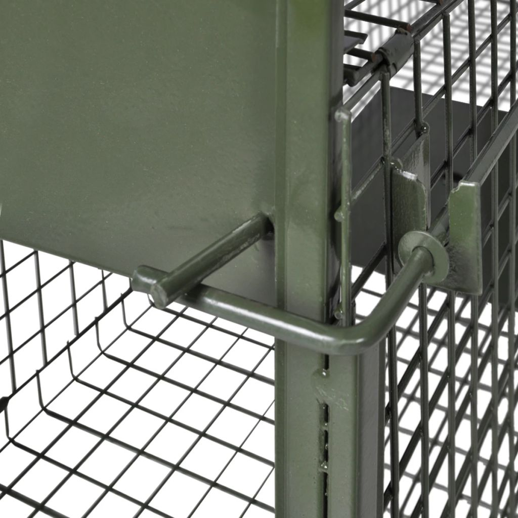 thumbnail 11 - Humane Live Catch Trap Fox Cat Steel Rodent Cage Mesh Holes 1 2 Doors Outdoor UK