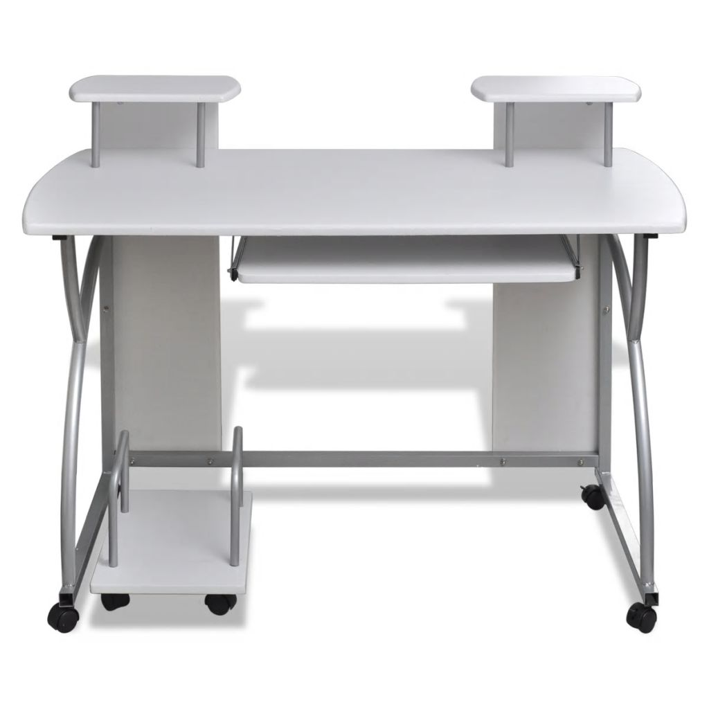 Computer Desk Pull Out Keyboard Tray Office Home Furniture