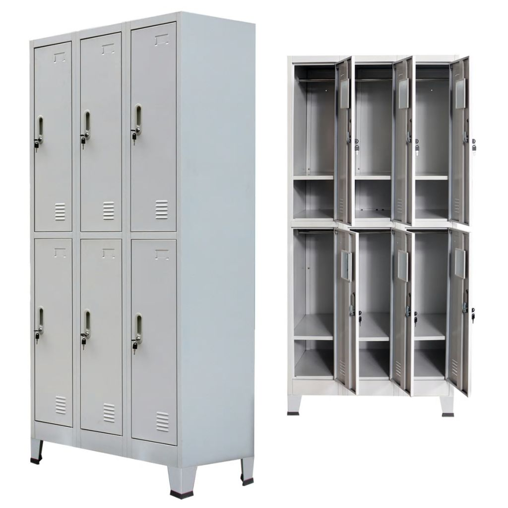 Details about Metal Storage Office Cabinet 30 Door Cupboard Wardrobe Dress  Shelves Locker US