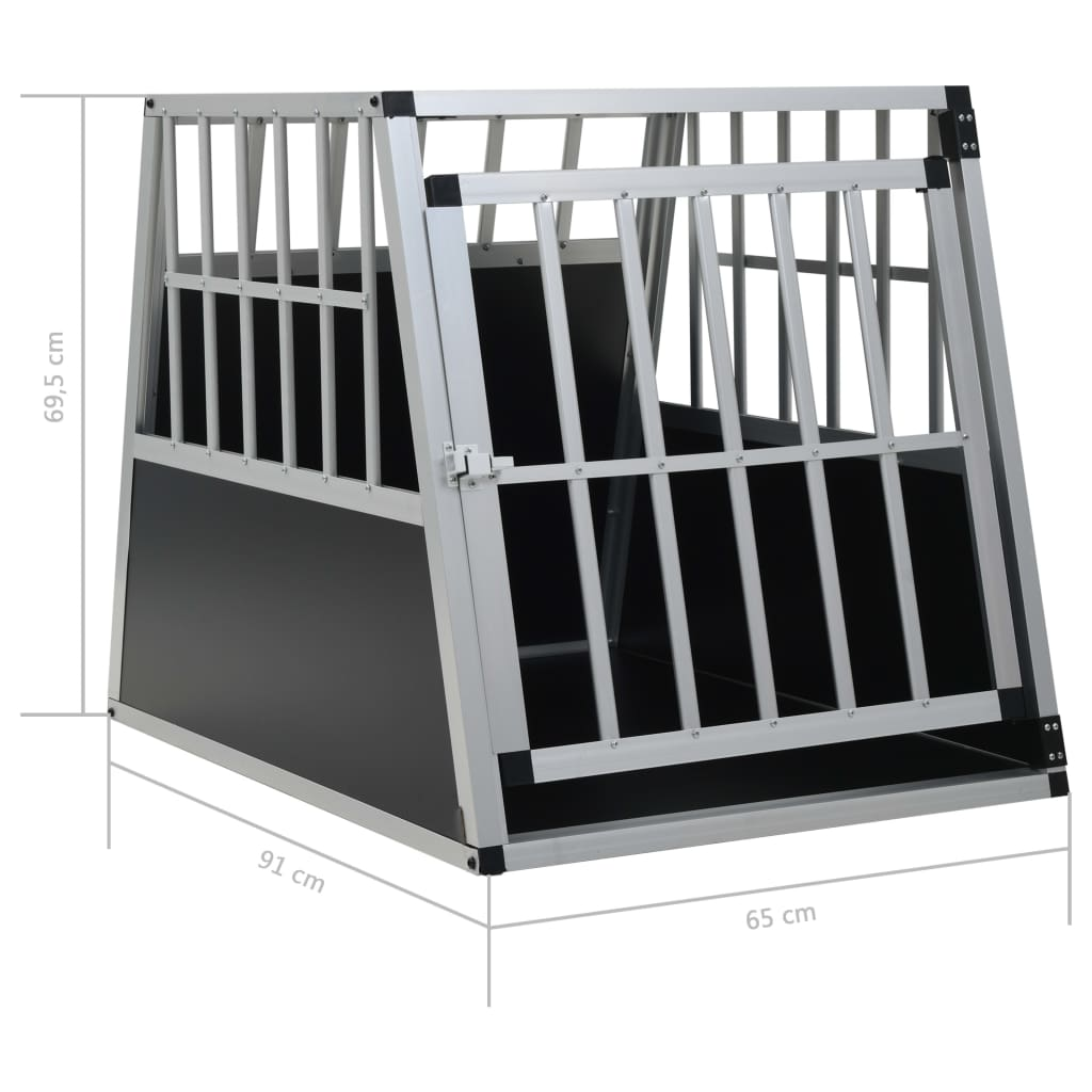 vidaXL-Dog-Cage-Dog-Kennels-Dog-Crates-with-Single-Double-Door-Multi-Sizes thumbnail 44