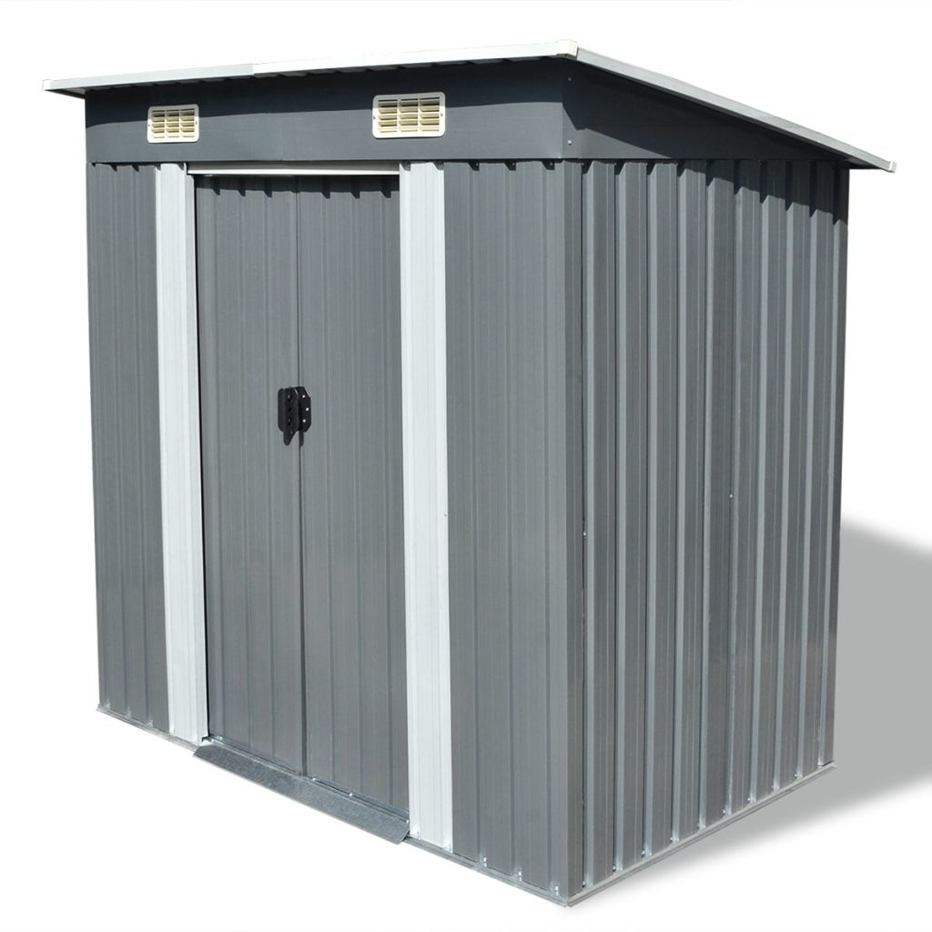 Outdoor Storage Shed Garden Backyard Metal Toolshed House