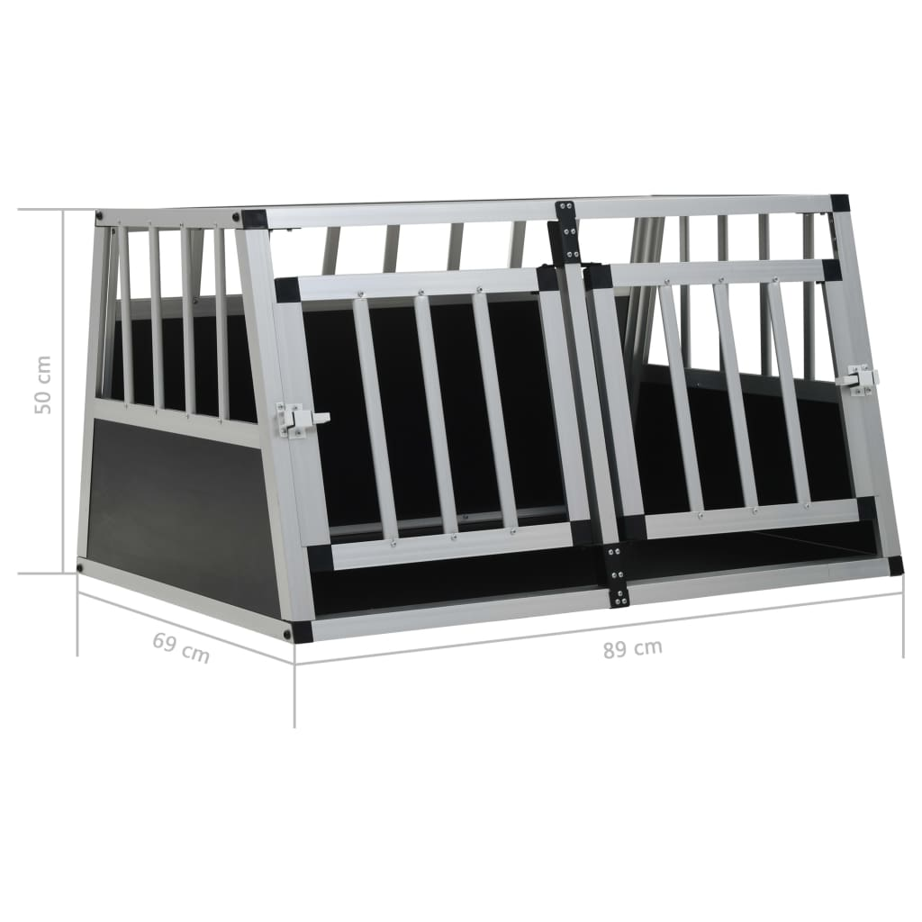 vidaXL-Dog-Cage-Dog-Kennels-Dog-Crates-with-Single-Double-Door-Multi-Sizes thumbnail 11