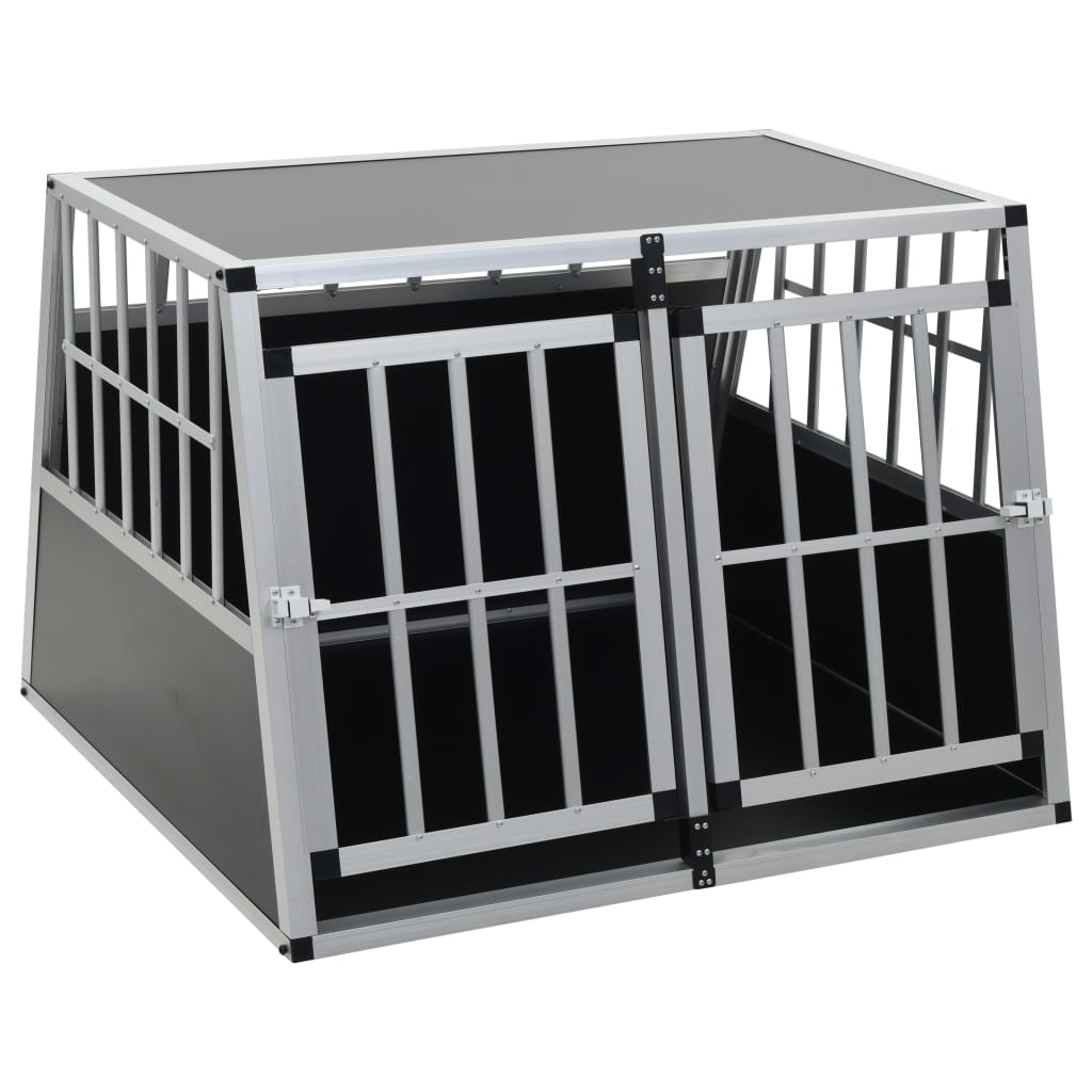 vidaXL-Dog-Cage-Dog-Kennels-Dog-Crates-with-Single-Double-Door-Multi-Sizes thumbnail 47