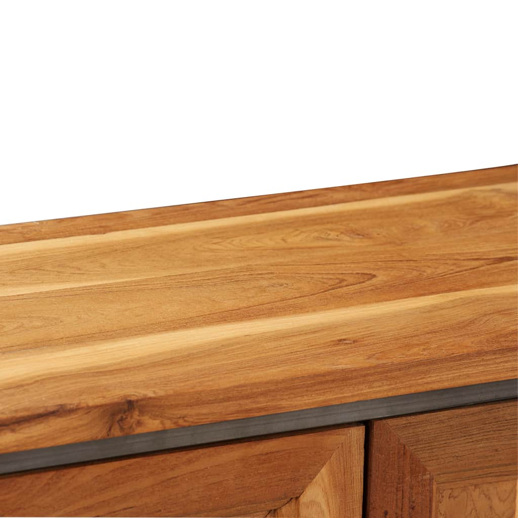 thumbnail 19 - Sideboard Recycled Teak and Steel Kitchen Storage Cabinet Buffet Furniture