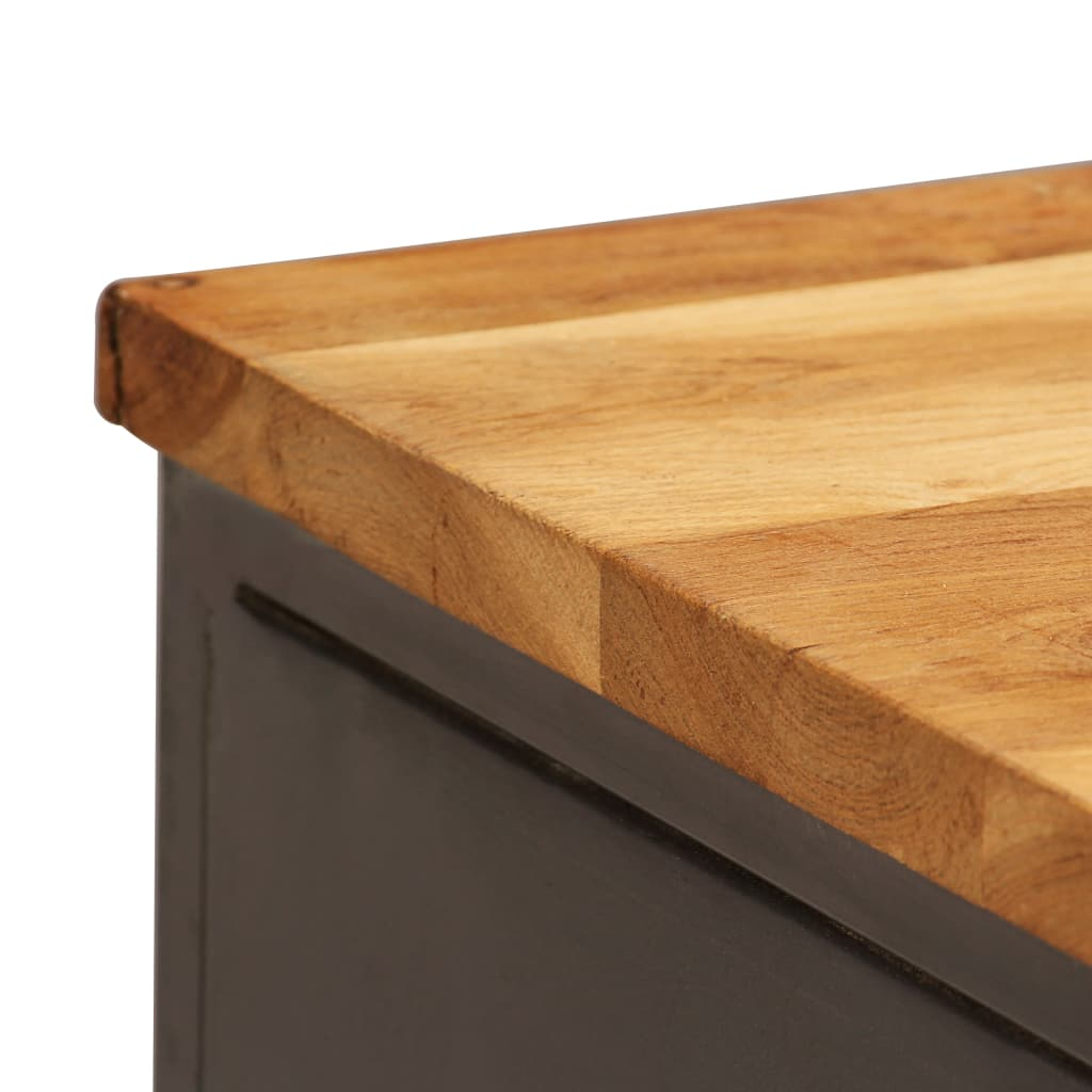 thumbnail 21 - Sideboard Recycled Teak and Steel Kitchen Storage Cabinet Buffet Furniture