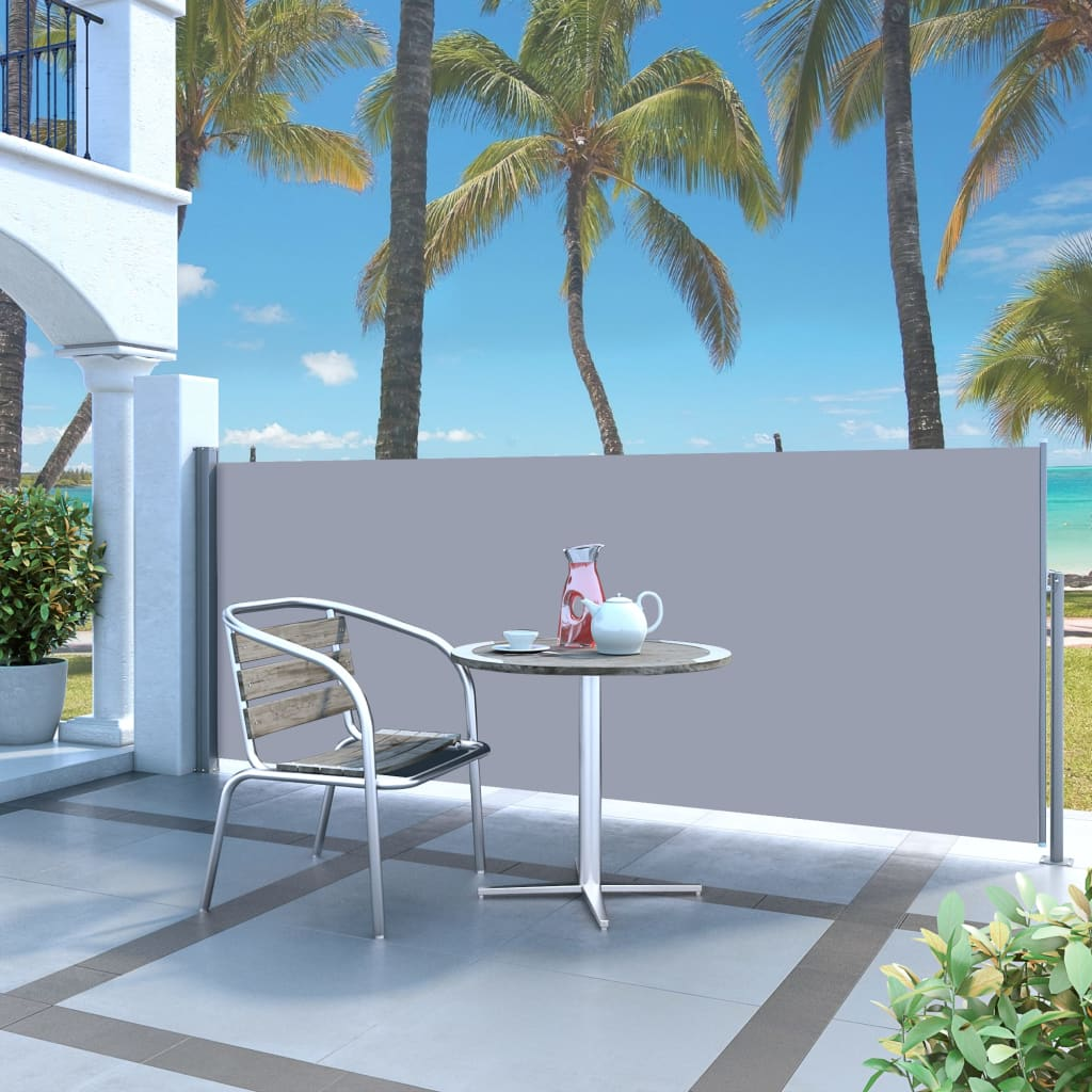 Garden Terrace Side Awning Screen Retractable Automatic ...