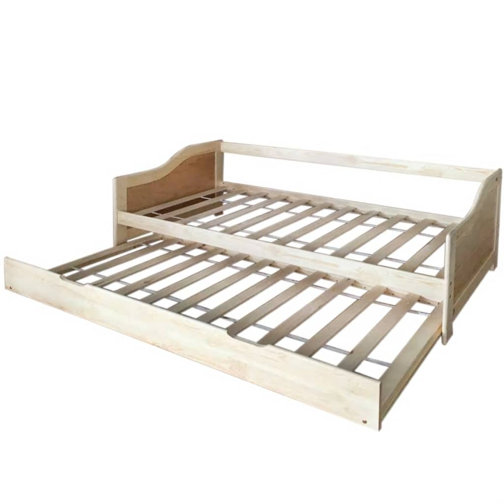 Double Day Bed Single Pull Out Sofa Bed Underbed Wooden