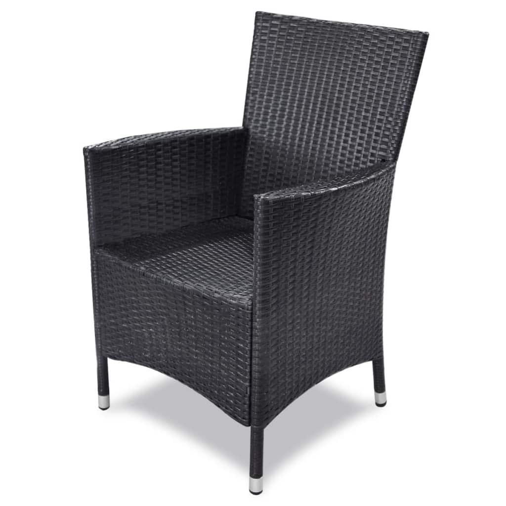 Poly-Rattan-Furniture-Garden-Dining-Set-Table-and-Chairs-Outdoor-Patio-Black thumbnail 22