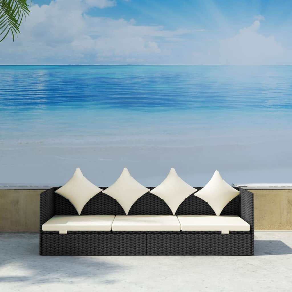 Outdoor-Patio-Sun-Lounger-Sofa-Bed-Rattan-Wicker-with-Soft-Seat-Cushion-amp-Pillow thumbnail 27