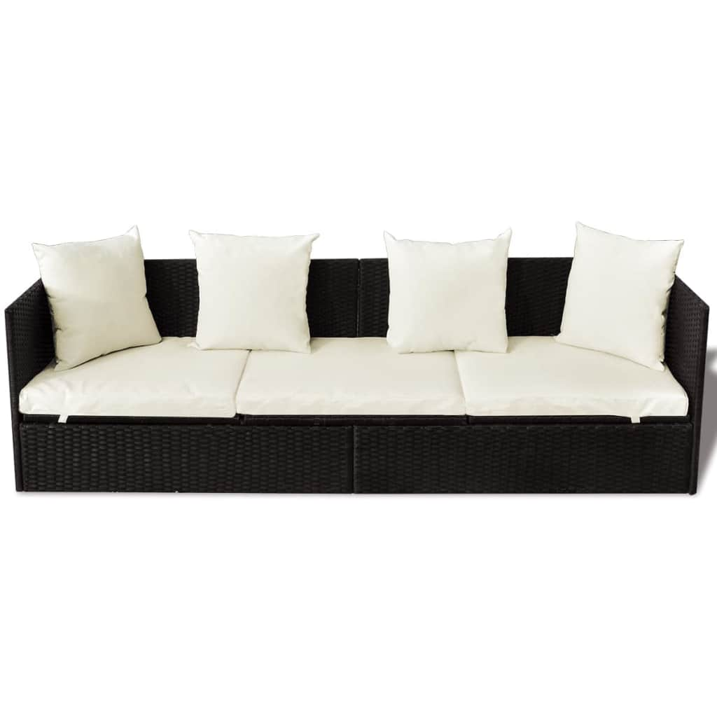 Outdoor-Patio-Sun-Lounger-Sofa-Bed-Rattan-Wicker-with-Soft-Seat-Cushion-amp-Pillow thumbnail 18