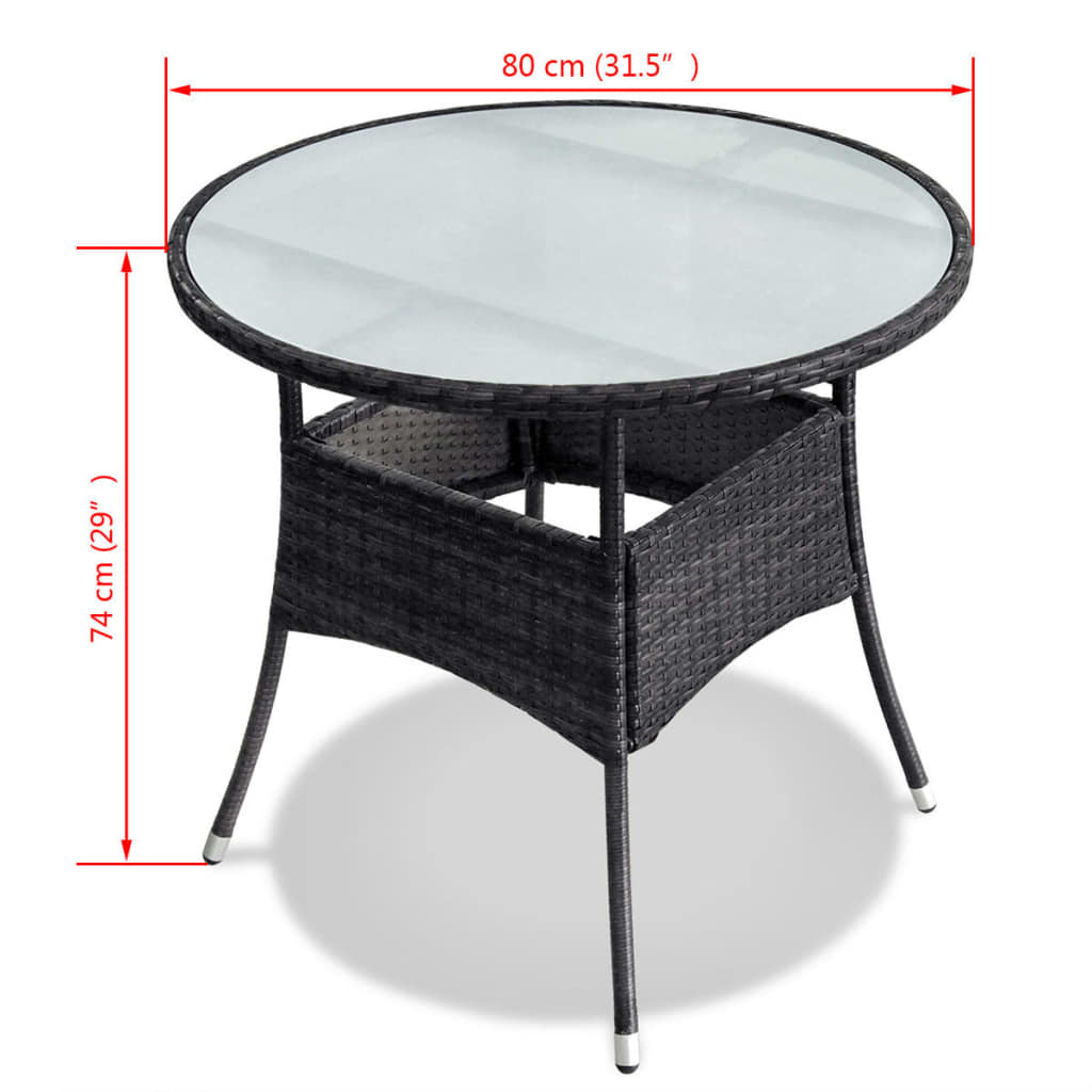Poly-Rattan-Furniture-Garden-Dining-Set-Table-and-Chairs-Outdoor-Patio-Black thumbnail 23