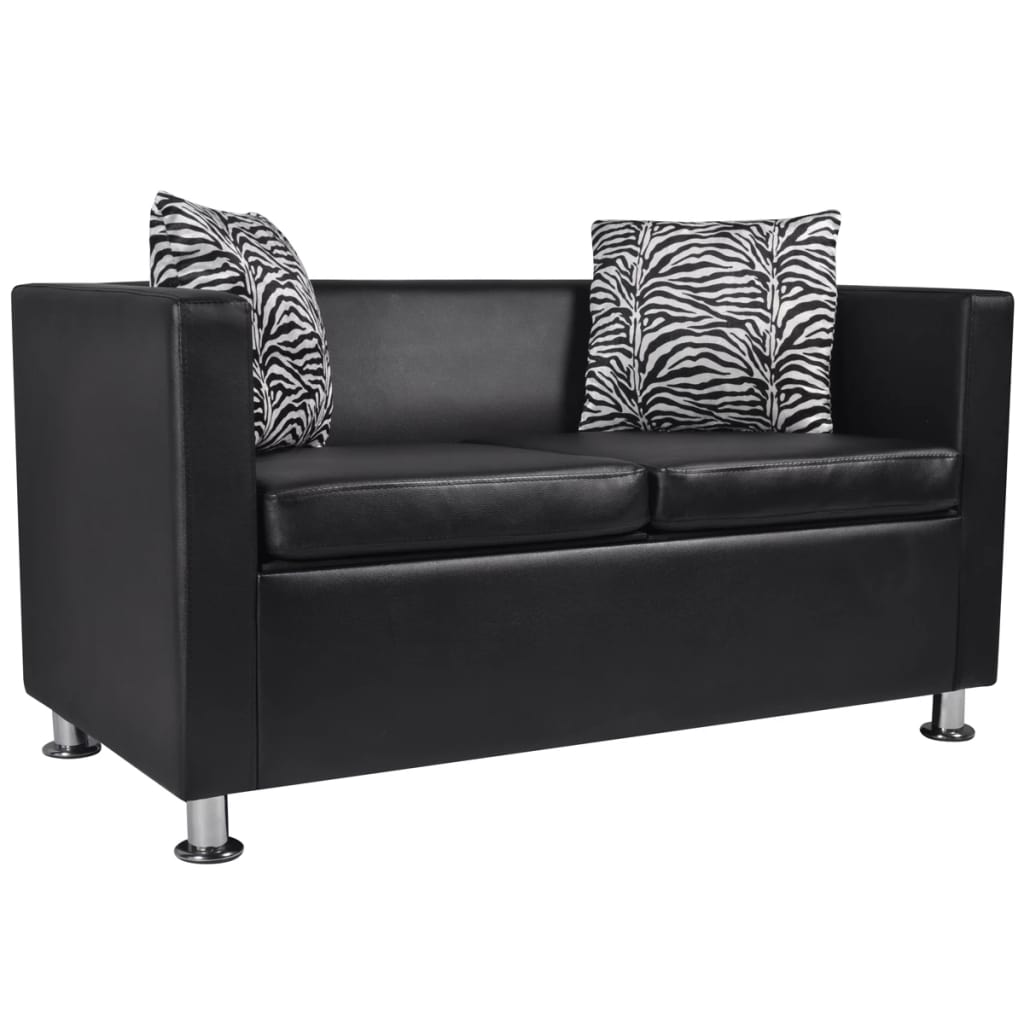 sofa 1 2 sitzer couch schlafsofa sessel kunstleder sessel. Black Bedroom Furniture Sets. Home Design Ideas