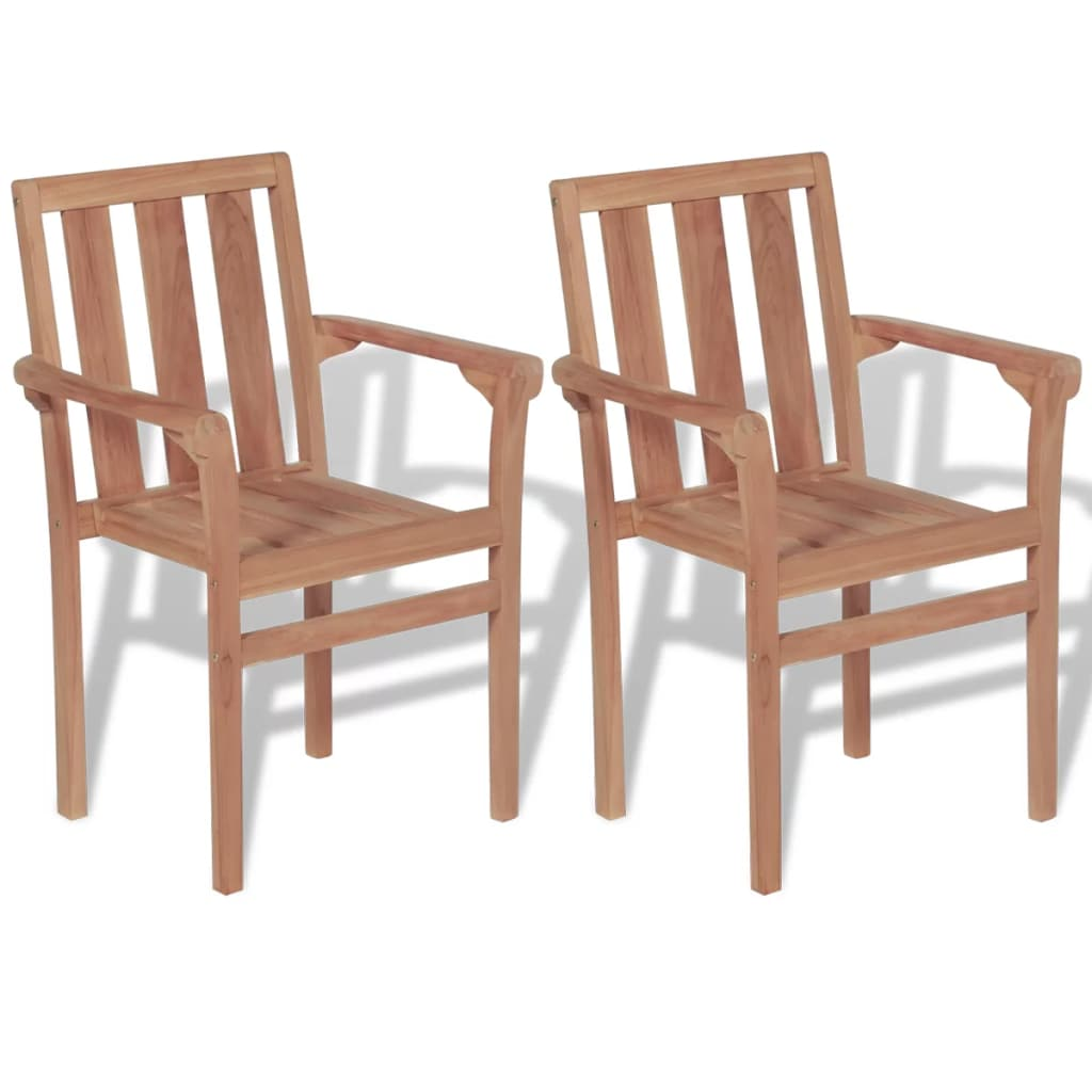 Details About 2pcs Wooden Garden Patio Chairs Outdoor Dining Stackable Armchair Seat Low Back