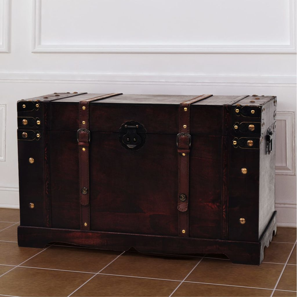 Large-Wooden-Brown-Treasure-Box-Storage-Chest-Trunk-Coffee-Table-Home-Furniture thumbnail 24