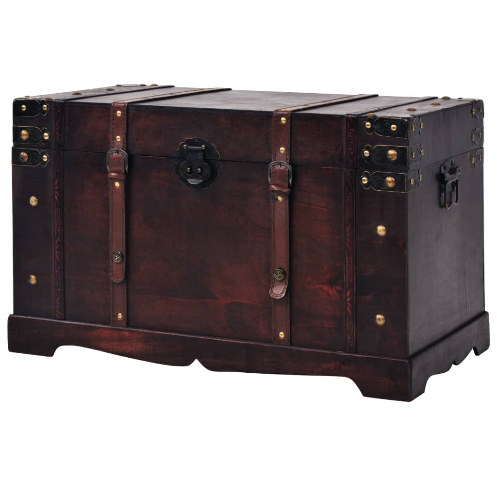 Large-Wooden-Brown-Treasure-Box-Storage-Chest-Trunk-Coffee-Table-Home-Furniture thumbnail 21
