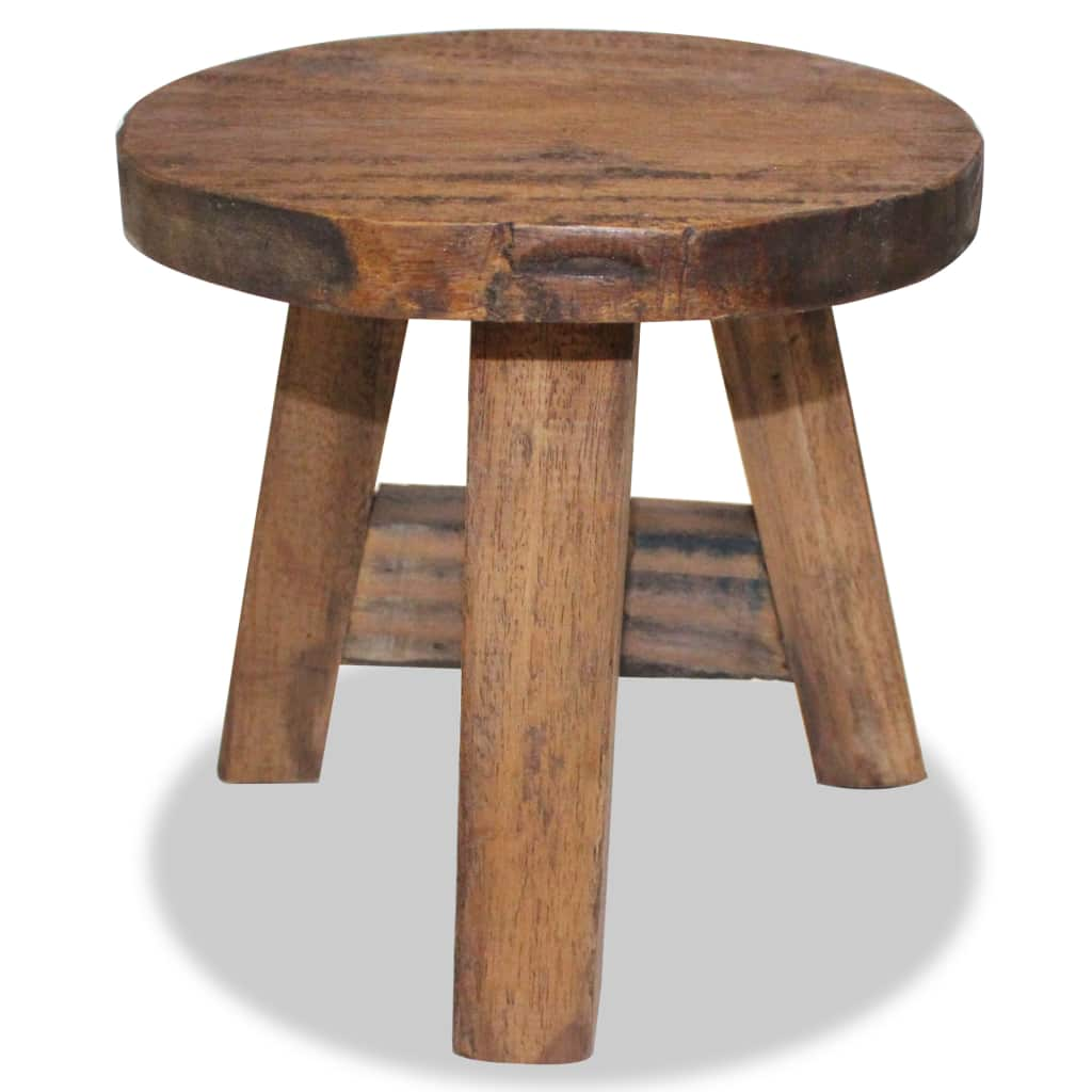 Brilliant Details About Handmade Stool Solid Reclaimed Wood Round Wooden Stools Part Suite Uk Home Chair Ncnpc Chair Design For Home Ncnpcorg